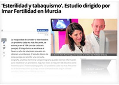 'Esterilidad y tabaquismo'. Estudio dirigido por Imar Fertilidad en Murcia