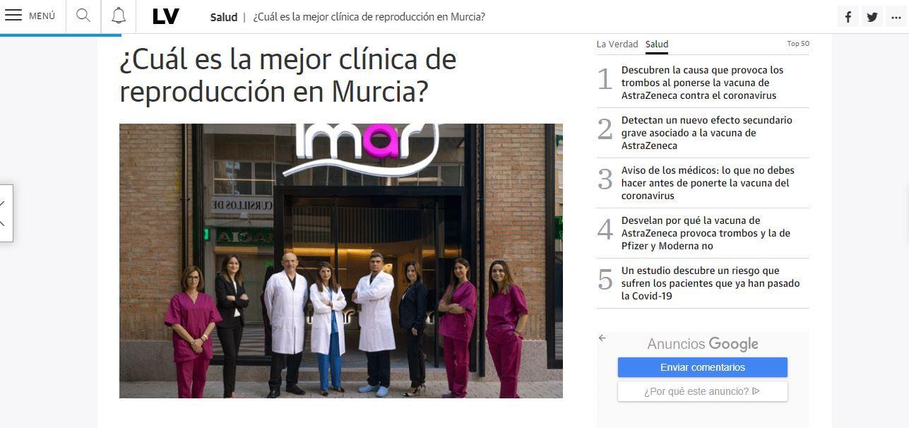 ¿Cuál es la mejor clínica de reproducción en Murcia?